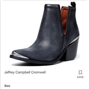 Jeffrey Campbell Cromwell Cutout Booties Size 7.5